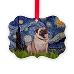 MP-STARRY-Pug2-fawn.png Picture Ornament