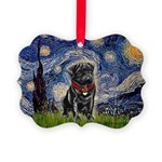 MP-STARRY-Pug-Blk14.png Picture Ornament