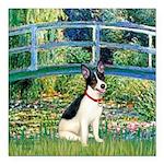 Rat Terrier - Bridge.png Square Car Magnet 3