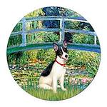 Rat Terrier - Bridge.png Round Car Magnet