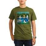 Rat Terrier - Sailboats.png Organic Men's T-Shirt