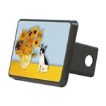 Rat Terrier - Sunflowers.png Rectangular Hitch Cov