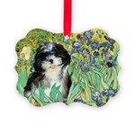 Irises - Shih Tzu 12.png Picture Ornament
