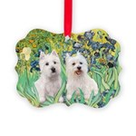 Irises-Westies 3and11-smaller.png Picture Ornament