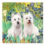 Irises-Westies 3and11-smaller.png Square Car Magne