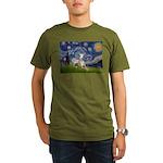 5.5x7.5-Starry-Whippet2.png Organic Men's T-Shirt
