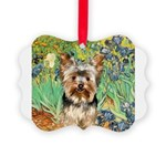 5.5x7.5-Irises-Yorkie17.png Picture Ornament