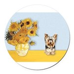 MP-Sunflowers - Yorkshire Terrier 17.png Round Car