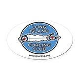 Long Island Curling Club w/ Web Oval Car Magnet
