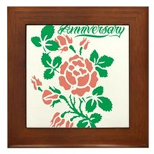 Happy Anniversary Framed Tile