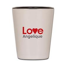 I Love Angelique Shot Glass
