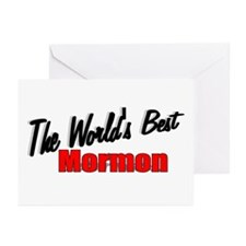 """The World's Best Mormon"" Greeting Cards (Package"
