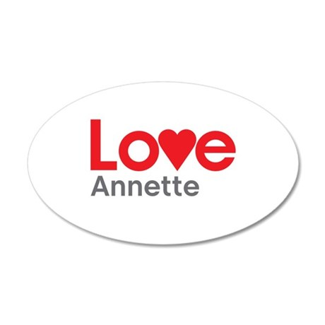 I Love Annette Wall Decal