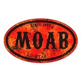 Moab Safety Orange Derelect  Aufkleber