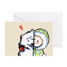 Boy n Dog Love Forever Greeting Card