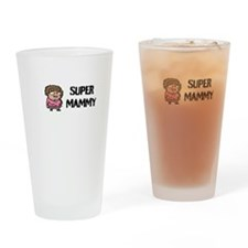 Super Mammy Drinking Glass