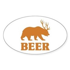 Bear+Deer=Beer Bumper Stickers