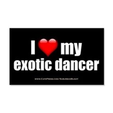 """Love My Exotic Dancer"" Wall Sticker"