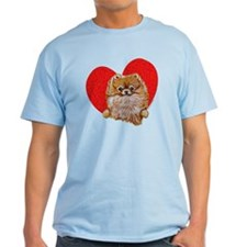Pomeranian in Heart T-Shirt