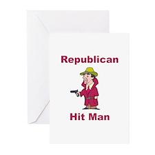 Republican Hit Man Greeting Cards (Pk of 10)
