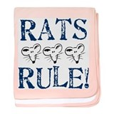Rats Rule Trio baby blanket