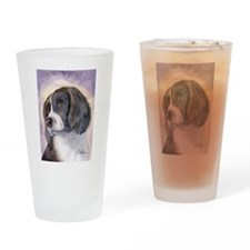 Springer spaniel waiting for a walk Drinking Glass