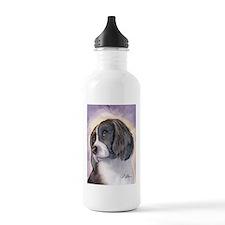 Springer spaniel waiting for a walk Water Bottle