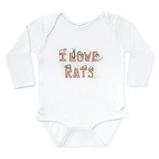 I LOVE RATS Body Suit