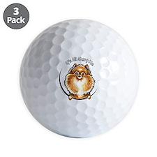 Orange Pomeranian IAAM Golf Ball
