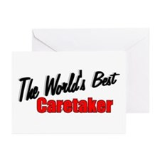 """The World's Best Caretaker"" Greeting Cards (Packa"
