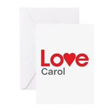 I Love Carol Greeting Cards (Pk of 20)