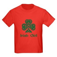 Irish Girl Knotwork Shamrock T-Shirt