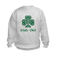 Irish Girl Knotwork Shamrock Sweatshirt