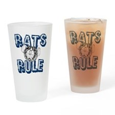 Rats Rule Drinking Glass