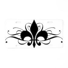 Cute Fleur de lis Aluminum License Plate
