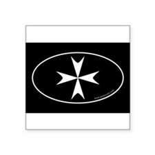 Maltese Cross Bumper Sticker -Black (Oval) Sticker