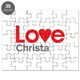 I Love Christa Puzzle