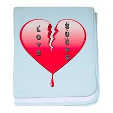 Love Sucks Broken Heart baby blanket