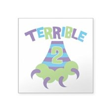 "Terrible 2 Monster Square Sticker 3"" x 3"""