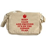 Keep Calm Teachers Messenger Bag
