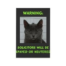 No Solicitations Rectangle Magnet
