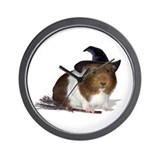 Guinea Pig Witch Wall Clock