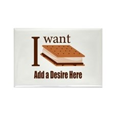 I Want Smore Add Text Rectangle Magnet