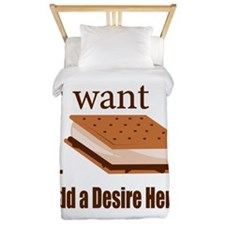 I Want Smore Add Text Twin Duvet