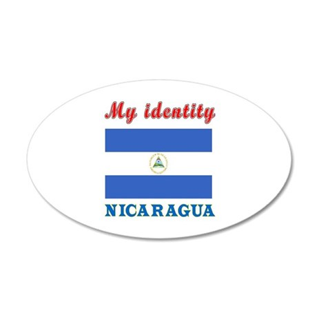 My Identity Nicaragua 20x12 Oval Wall Decal