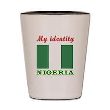 My Identity Nigeria Shot Glass