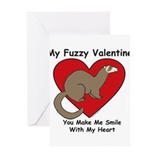 Cute Valentine ferret Greeting Card