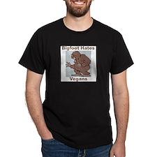 Bigfoot Hates Vegans T-Shirt