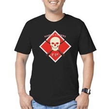 RIP Marine Raiders Button Black T-Shirt