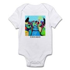 Infant Bodysuit<BR>Chicago River View
